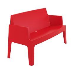 Box bænk rød