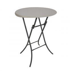Lifetime rundt plastikbord ståbord Ø84 cm