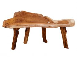 Root teak bench.