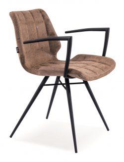 Brody læder designstol i brun