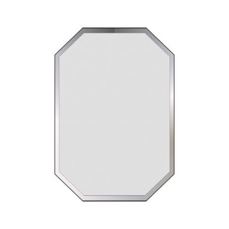 Facetslebet 110x90 spejl m/lige kanter, 8 kantet