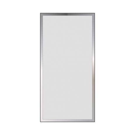 Facetslebet 120x80 spejl m/lige kanter - rektangulært