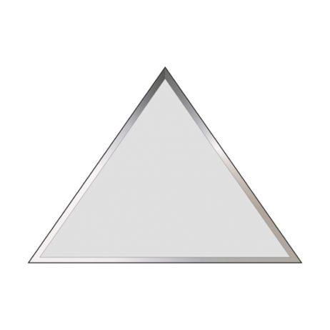 Facetslebet 100x100 spejl m/lige kanter, Trekantet