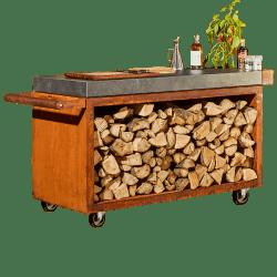 Mise en Place Bord med opbevaring af træ