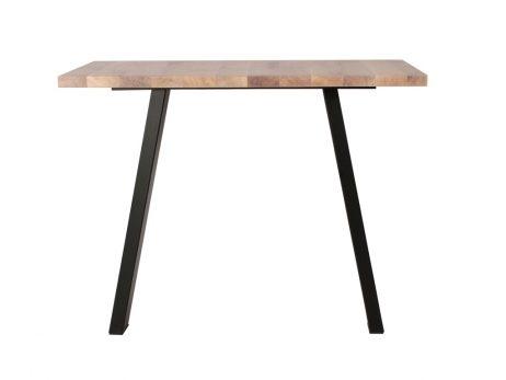 Skrå bordstel, sort pulverlakeret
