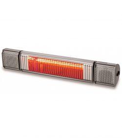 Terassevarmer m/ højtaler og lys fra Kemper