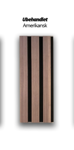 Premium Akupanel Amerikansk Valnød Ubh. 2400×600
