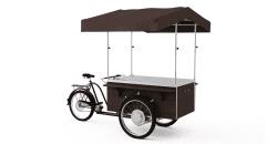 Cykel med salgsbod med vask og vand, Gastrobike (cykel bagtil )